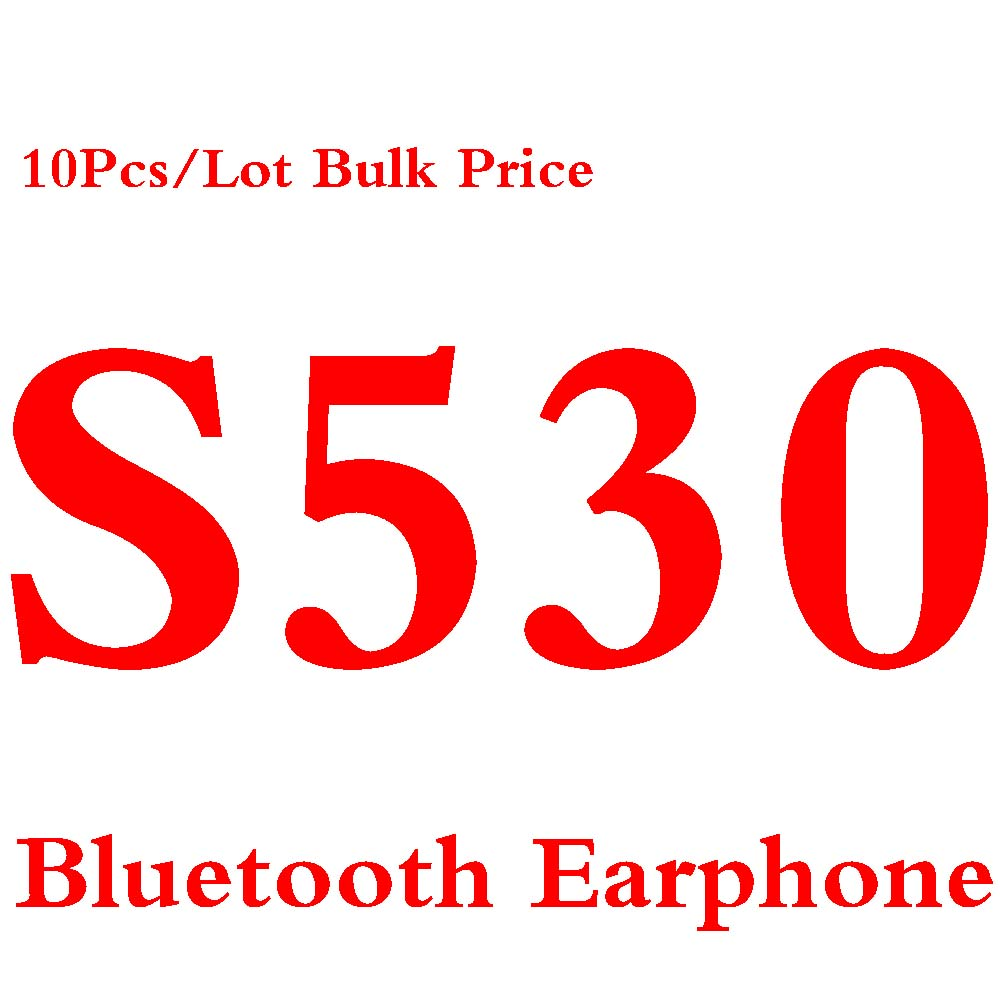 10pcs/lot Mini S530 Wireless Bluetooth 4.0 Earphone in-ear Earbud Sport Music Handfree Headset with Mic for iphone Android Phone