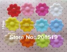 NB045 Mixed colors 400pcs Sun flower shape apparel buttons garment button shirt sewing accessory craft decoration