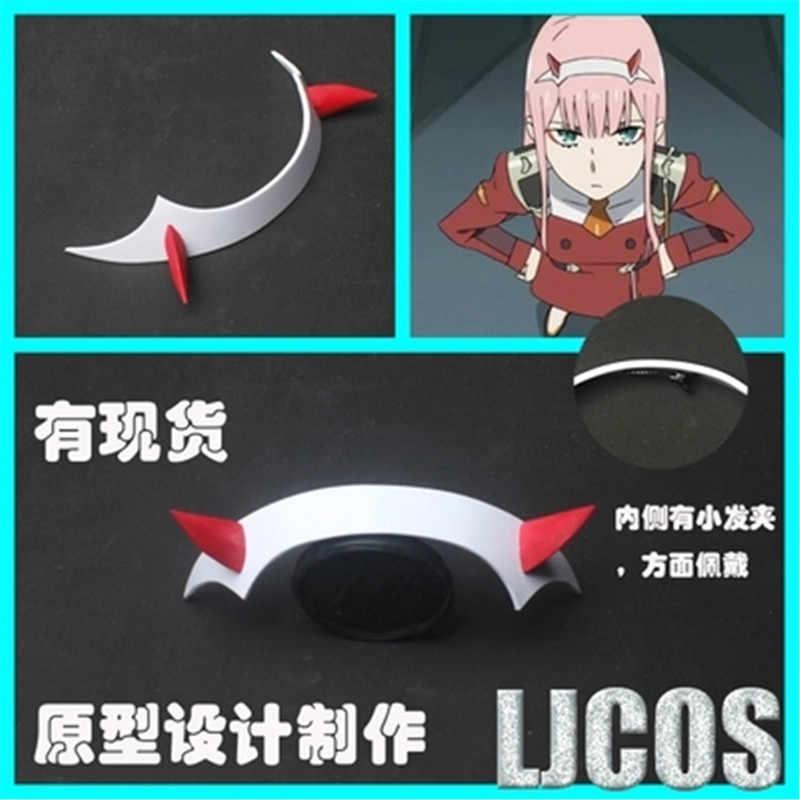 Anime di DARLING nel FRANXX Zero A Due Code: 002 Clip di Capelli Cosplay Copricapi PVC Corno Fascia Hairband Prop