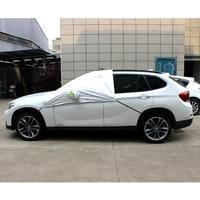 Car Accessories Car Cover Gray Sun UV Protection Half Auto Cover Rain Snow Ice Waterproof Protection