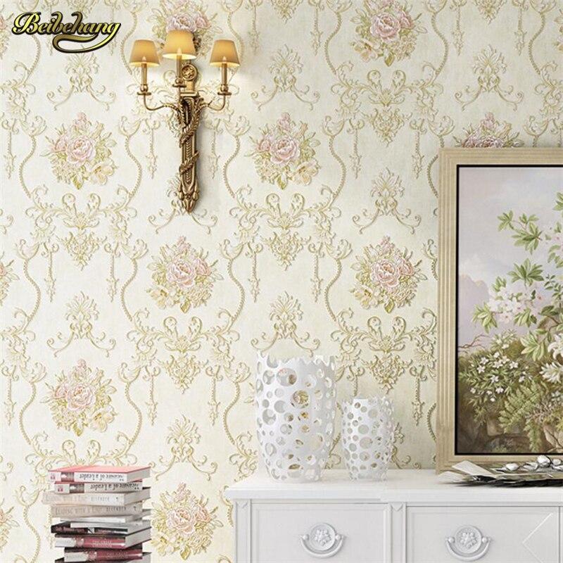 Beibehang pastorale Nonwovens papier peint 3D stéréo Relief luxe américain Village chambre salon fond d'écran