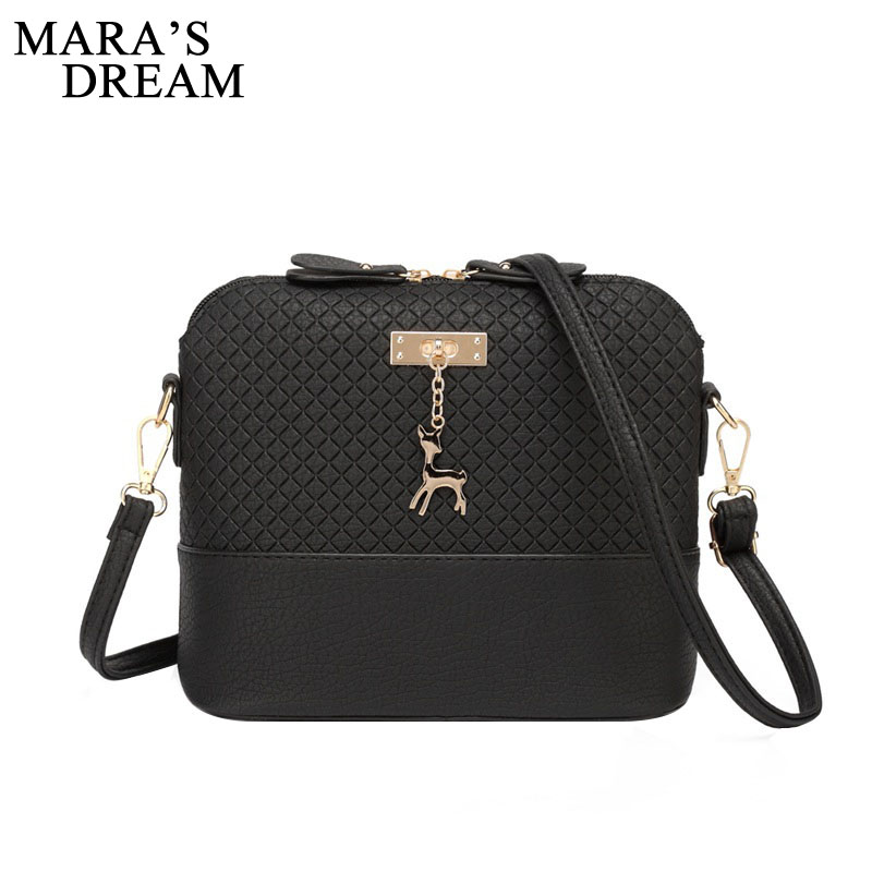 Mara's Dream 2018 Women Bag Messenger Bags Fashion Bag With Deer Toy Shell Shape Girls Shoulder Crossbody Bags Sac A Main Femme fashion women mini messenger bag pu leather shell shape bag crossbody shoulder bags with deer toy popular