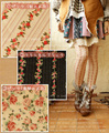 Japão Floresta Mori Menina Primavera Meias Meias Mulheres Flor Floral Tira Mulheres Meias Feminino Túnica Roupas Lolita