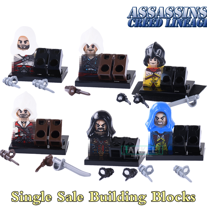 1PC New Movice Assassin's Creed  Kenway Dorian Cormac Firenze Building Blocks Superheroes Bricks kids Diy Toys Hobbies Xmas Gift 1pc imperial death trooper rogue one 75156 diy figures star wars superheroes assemble building blocks kids diy toys xmas