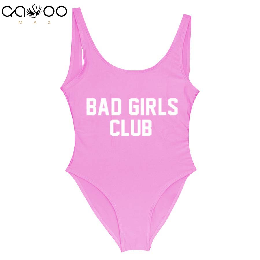 29e941e756 BAD GIRLS CLUB Red Swimsuit Women s Swimming Suit Badpak Summer 2018  Swimsuit Thong Bathing Suit Swim Suit Solid Sexy Swimwear -in Body Suits  from Sports ...