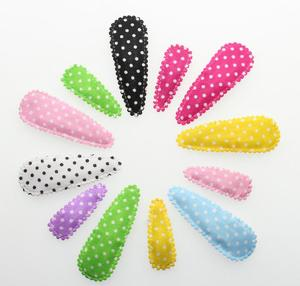 Image 5 - 70pcs pack fabric Snap Clip coloful floral Hair clips,Hair Accessoies,Fabric covered hairpins for girls