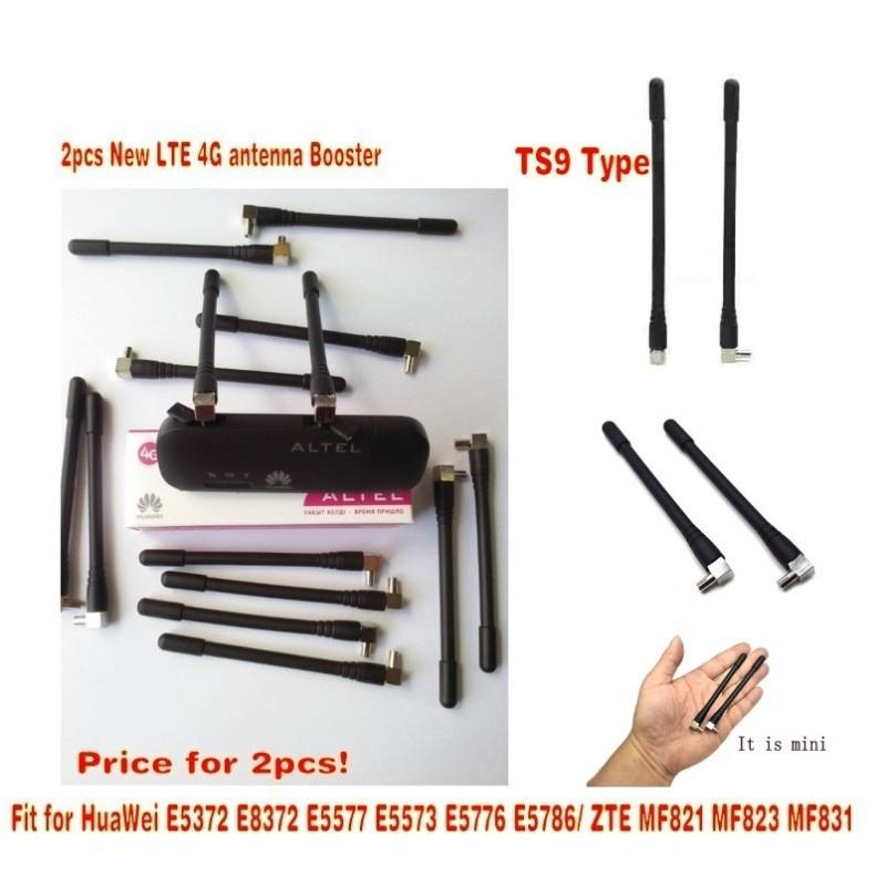 2Pcs 4G LTE Antenna Booster TS9 Connector 5dBi For HUAWEI E8372 E3372 E5776 NICA