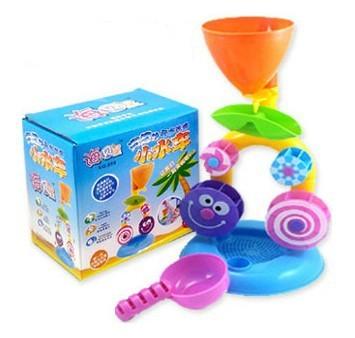 Candice guo! de plástico de colores pequeño sandglass waterwheel bebé de juguete de agua juguetes de playa niño tomar una ducha 1 unid