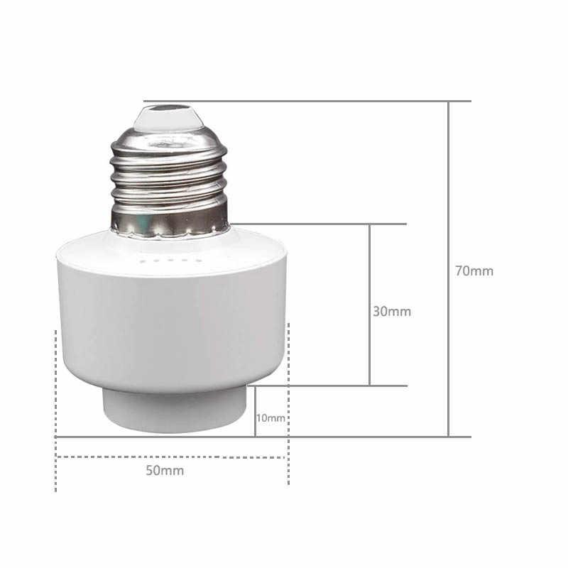 E27 Smart Lamp Holder WiFi Control Bulb Adapter Socket Work With Alexa Google Home IFTTT AC85-265V