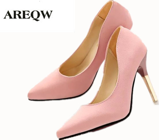 AREQW 2017 Spring Fashion Comfortable Leather shoes women thin heel High Heels wedding shoes 3 Color Single Shallow Mouth Pumps siketu 2017 free shipping spring and autumn women shoes fashion high heels shoes wedding shoes sex was thin pumps g230