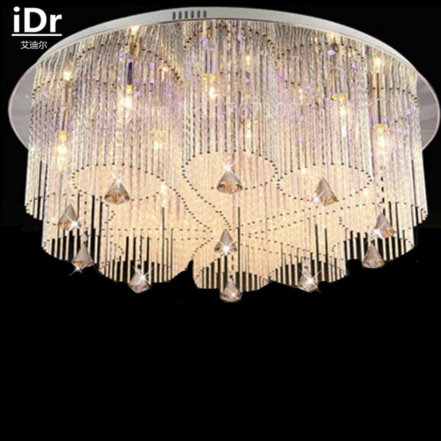 Modern Crystal Lamp Wick Shaped Circular Ceiling Lights Living Room Bedroom Dining Lighting Fixture Manufacturers