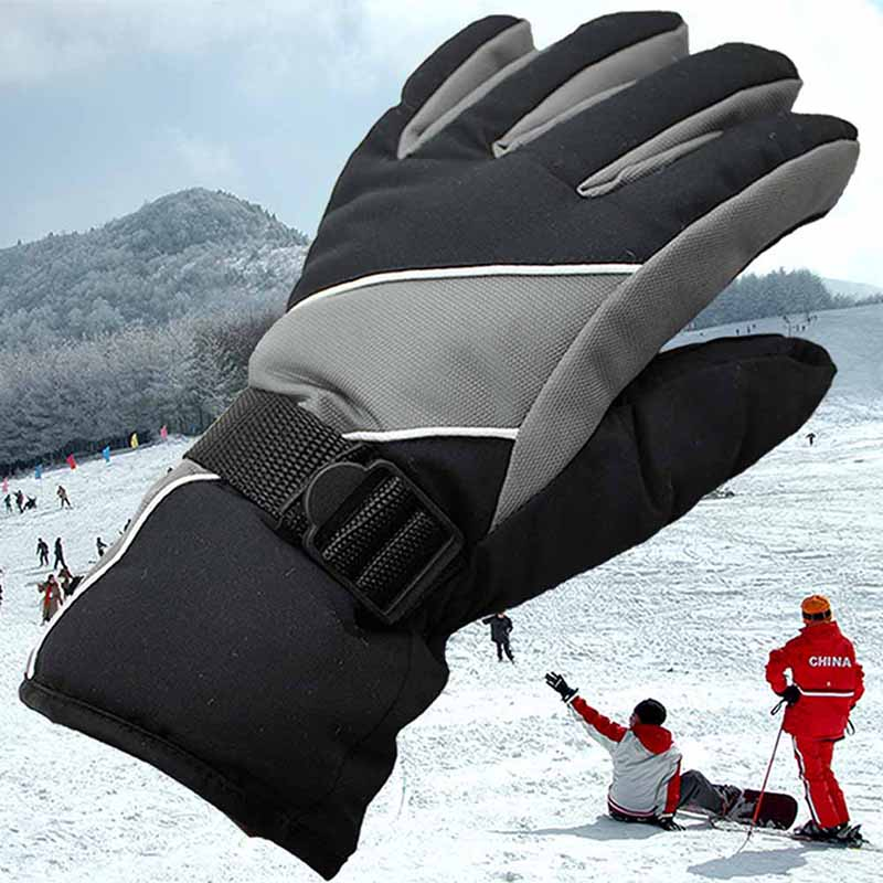 New Brand Windproof Riding Ski Gloves Mountain Skiing Snowmobile Waterproof Snow Motorcycle Gloves