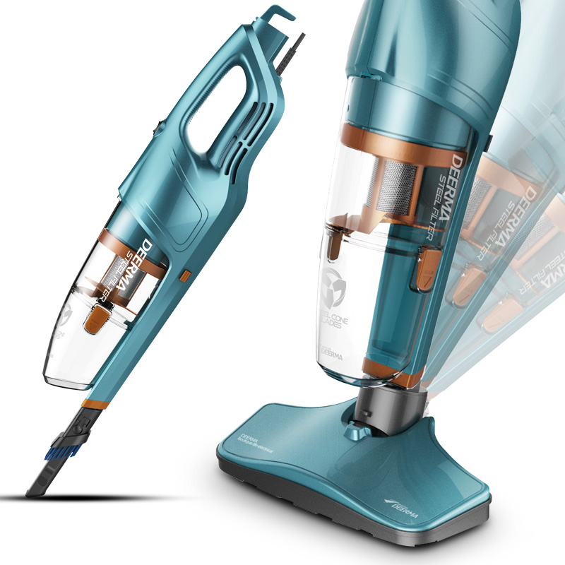 Vacuum Cleaner Home No Supplies Hand-held Carpet Strong In Addition To Mites Small Mini High Power DX930 Stainless Steel in addition to mites machine high power vacuum cleaner super sound off mini no supplies horizontal big suction