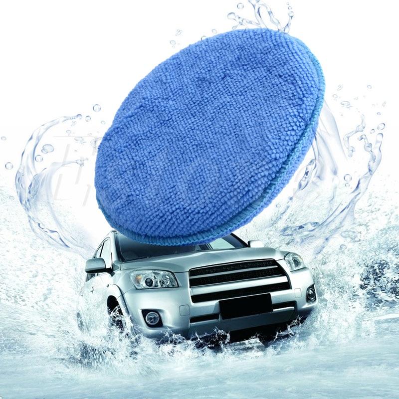 QILEJVS 1PC Car Waxing Polish Microfiber Foam Sponge Applicator Cleaning Detailing Pads