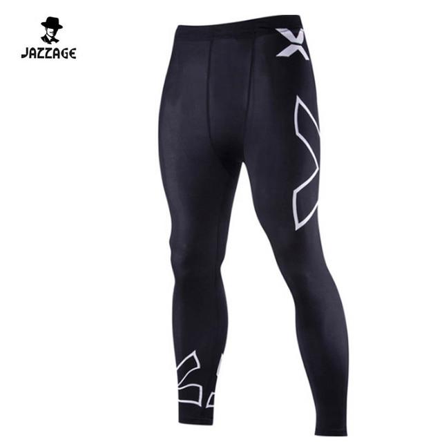 2016 sólidos mens calças de compressão leggings base de camada calças justas da aptidão desgaste vansydical