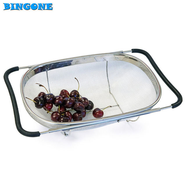 Aliexpress.com : Buy Pull Retractable Drain Basket Rack Stainless ...