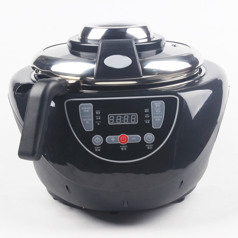 DMWD 3.5L Multifunctional Electric Cooker 220V Automatic Stirring Frying Pot Chinese Food Boiling Steam Wok Smokeless Skillet