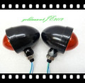 from aftermarket Black/Red TURN SIGNAL Bullet LIGHT fitting for Harley Electra Glide Touring Ultra Softai