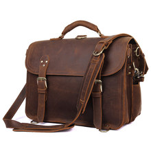 J.M.D High Quality Classic Mens Travel Leather Bag Business Backpack Vintage Durable Handbag 7370R