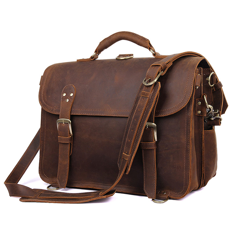 J.M.DJ.M.D High Quality Classic Men's Travel Leather Bag Business Backpack Travel Bag Vintage Durable Handbag 7370R high quality authentic famous polo golf double clothing bag men travel golf shoes bag custom handbag large capacity45 26 34 cm