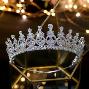Image 4 - ASNORA ใหม่ Crown Headwear กับ Zincon แฟชั่น Vintage เครื่องประดับทรงผมเจ้าสาว Party Crown