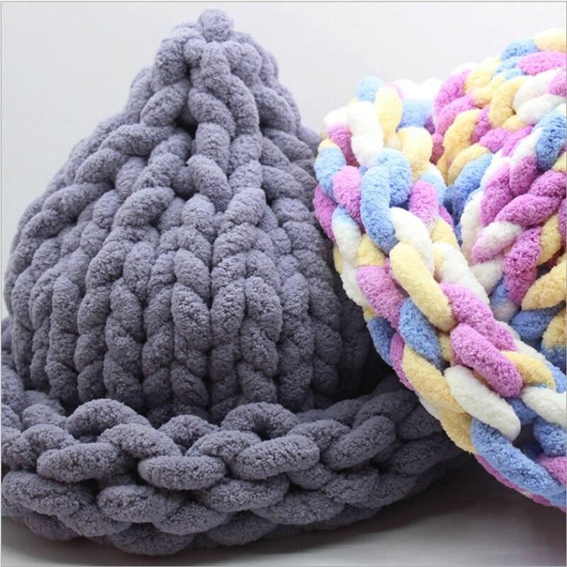 Lujo Súper Hilo Voluminoso Patrón Bufanda Crochet Festooning - Manta ...