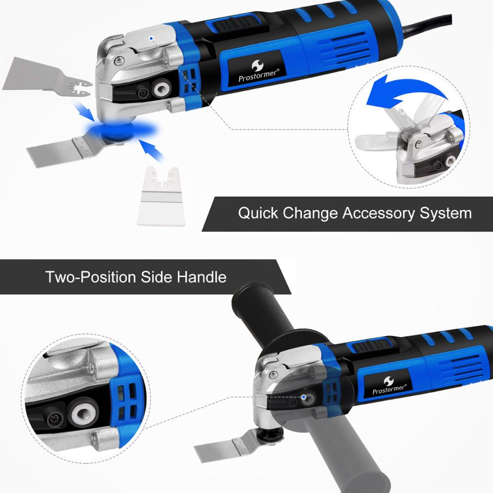Image 5 - Prostormer Variable Speed Renovator Electric Multifunction tool Oscillating Kit Multi Tools Home Decoration Trimmer Electric Saw-in Oscillating Multi-Tools from Tools on