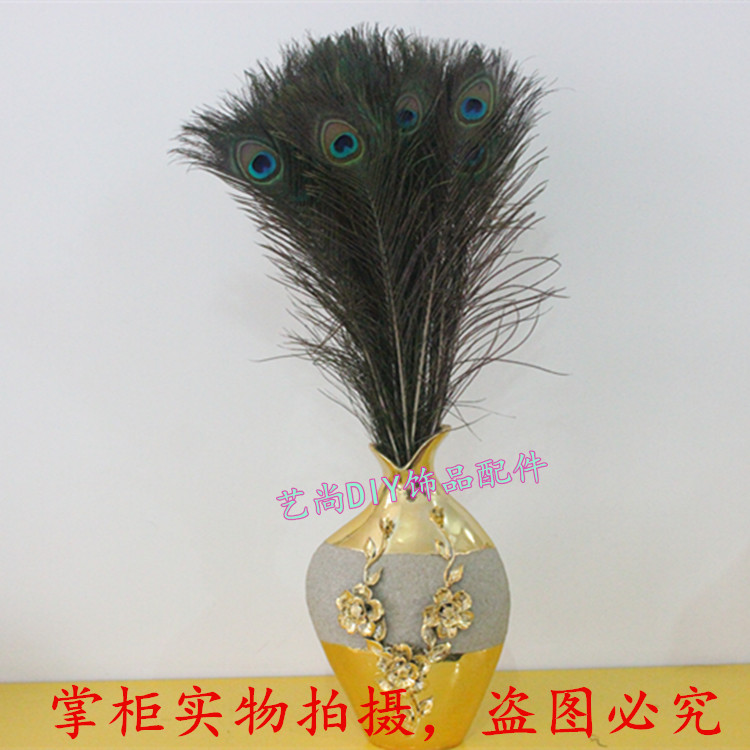 Wholesale beautiful natural peacock feathers eyes 10-40 inches//25-100 cm