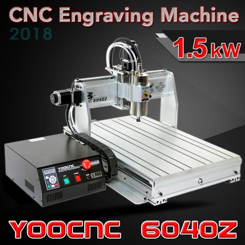 Machine de gravure en métal dur de machine de gravure de CNC de 3 axes 6040Z machine de sculpture sur bois de CNC avec la broche de refroidissement par eau et le port d'usb