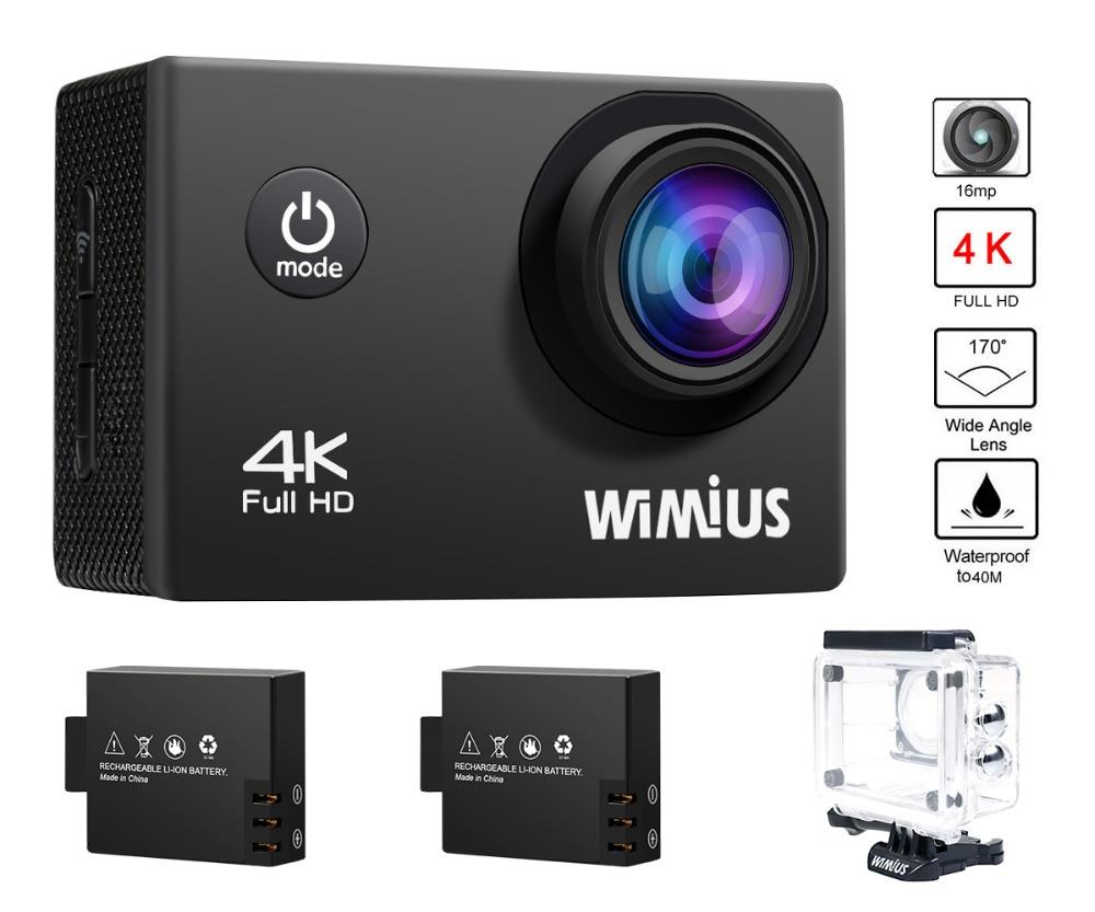 Wimius Action Camera 4K 30FPS wifi 2.0 inch Lens 1080P 60fps Full HD Go Waterproof 40M Pro Wearable Mini Video Sport Helmet Cam