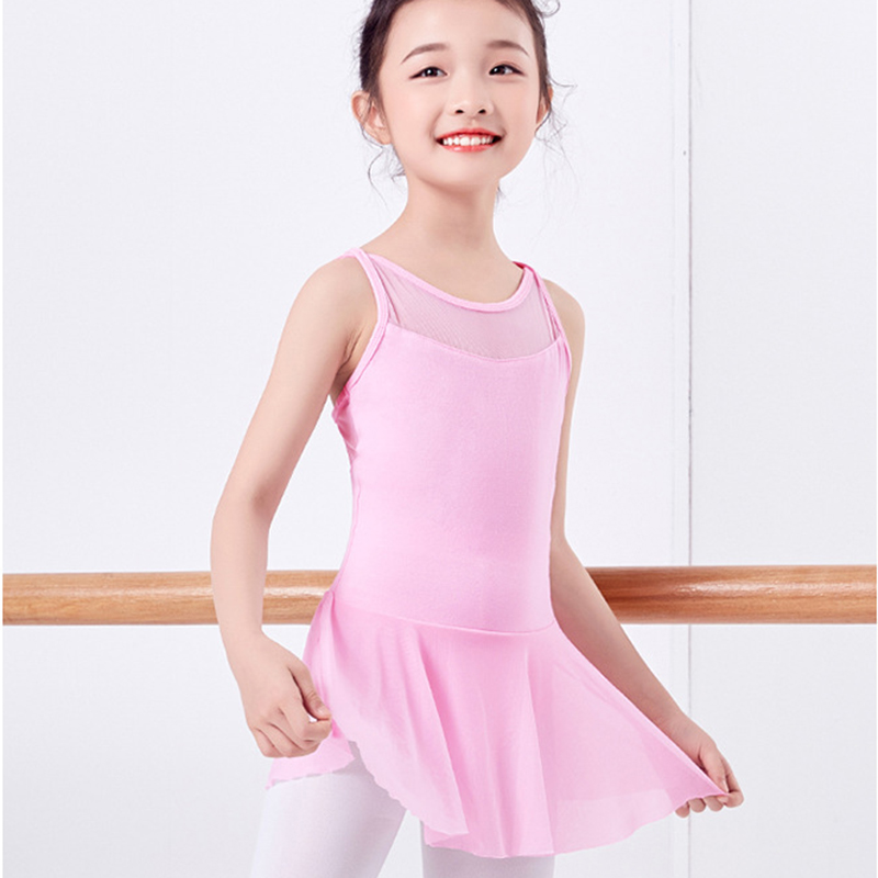 girls ballet dress camisole dance leotard mesh skirt ballerina kids gymnastic tutu