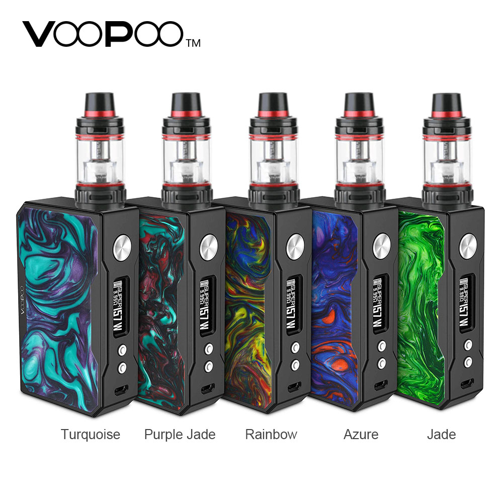 Original 157W VOOPOO Black Drag ResinTC Kit with Drag MOD 5ml Uwell Valyrian Tank US Gene