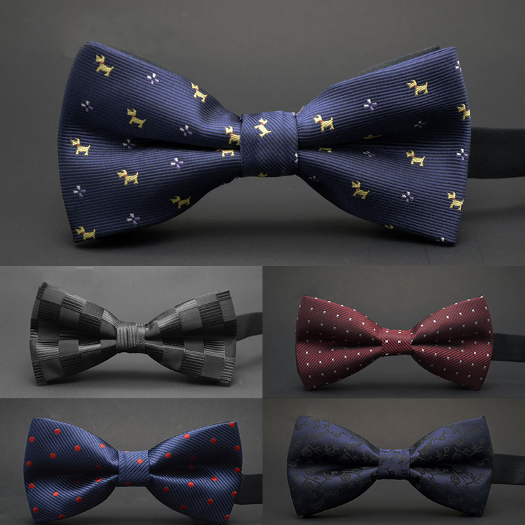 GUSLESON NEW Dot Bow Tie Wedding Wedding Bowtie Noeud Papillon Bechgyn a Merched Polyester Silk Pajaritas Cravat Bowties Dillad Gwddf Benywaidd