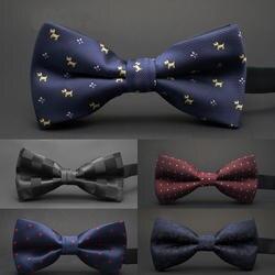 GUSLESON/Новый галстук-бабочка в горошек, Свадебный галстук-бабочка, Noeud Papillon, для мальчиков и девочек, полиэстер, шелк, Pajaritas, галстук-бабочка