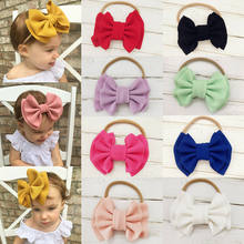 Toddler Kids Baby Girls Big Bow Hairband Knot Elastic Headband Hair Accessories Black Blue White Red Yellow Accessories(China)