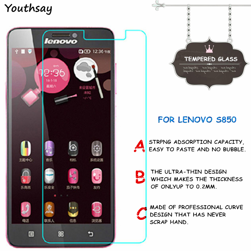 2pcs For Glass Lenovo S850 Tempered Glass For Screen Protector Lenovo S850 Glass For Lenovo S 850 Film S850T S850E Youthsay
