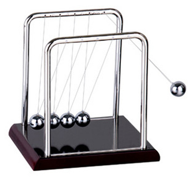 Newtons Cradle Steel Balance Ball Desk Table Decor Metal Pendulum Ball Kids Physics Science Accessory Desk Toy Antistress Game 1