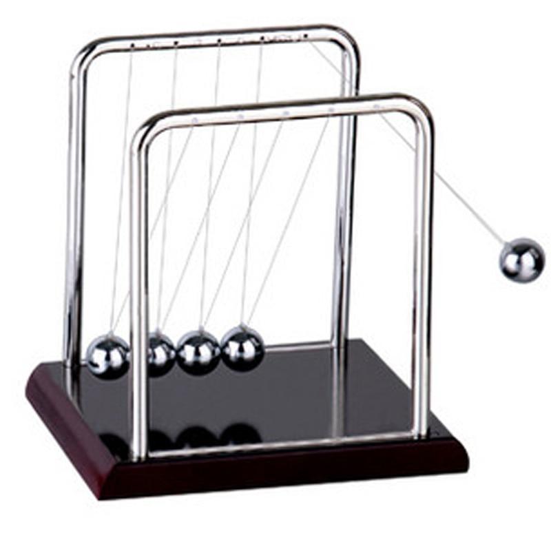 Newtons Cradle Steel Balance Ball Desk Table Decor Metal Pendulum Ball Kids Physics Science Accessory Desk Toy Antistress Game