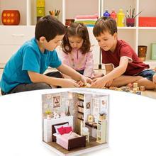 DIY Мини Вилла Дом Кукольный дом сборная игрушка дом ручная работа ремесло головоломка строительные игрушки(Долли суд