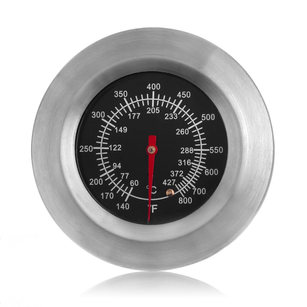 AMW Temperature Controlled Gauge BBQ Metal Thermometer 140-800 Degrees Fahrenheit Oven Food Cooking Baking Thermometer Гриль