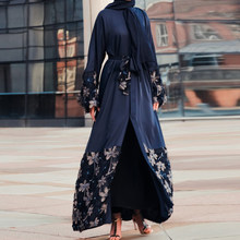 Floral Kaftan Abaya Dubai Turkey Islamic Clothing Hijab Muslim Dress Abayas For Women Caftan Jilbab Elbise Giyim Ramadan Robe(China)