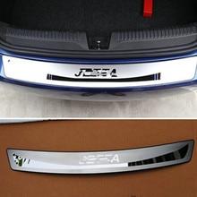 цена на  Stainless Steel Rear Bumper Protector Sill Car Accessor For VW Volkswagen Jetta MK6 2011 2012 2013 2014