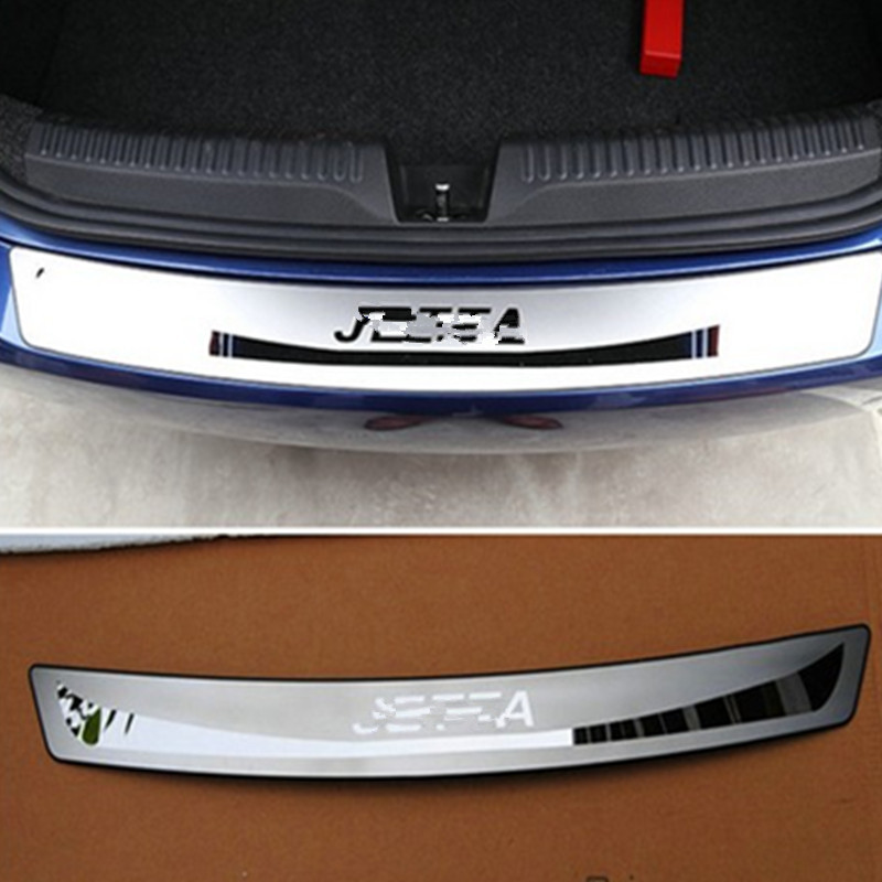 Stainless Steel Rear Bumper Protector Sill Car Accessor For VW Volkswagen Jetta MK6 2011 2012 2013 2014