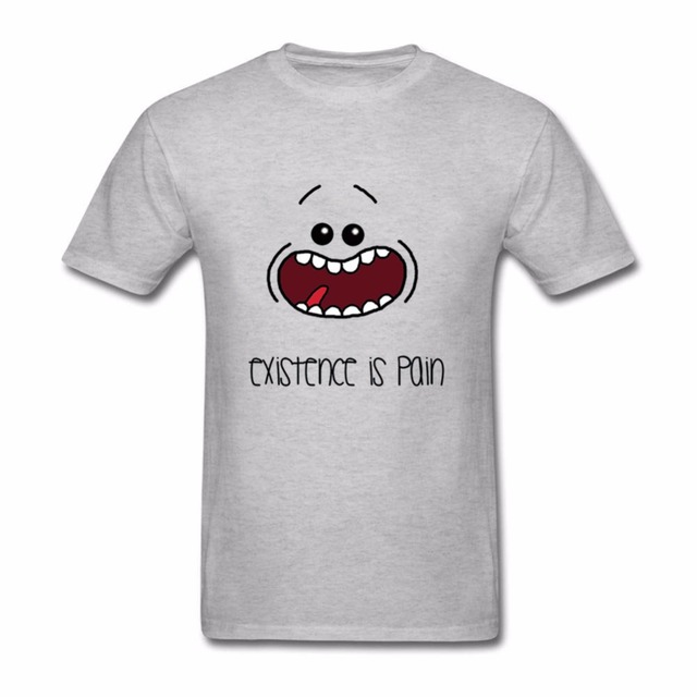 Cool Hombre T Shirts Men Rick And Morty MR. MEESEEKS Existence is ...