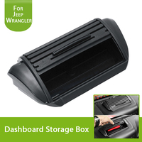 Car Styling Black Car Dashboard Storage Box Organizer Case For Jeep JK Wrangler Unlimited 2012 2017 Interior Parts Accessories