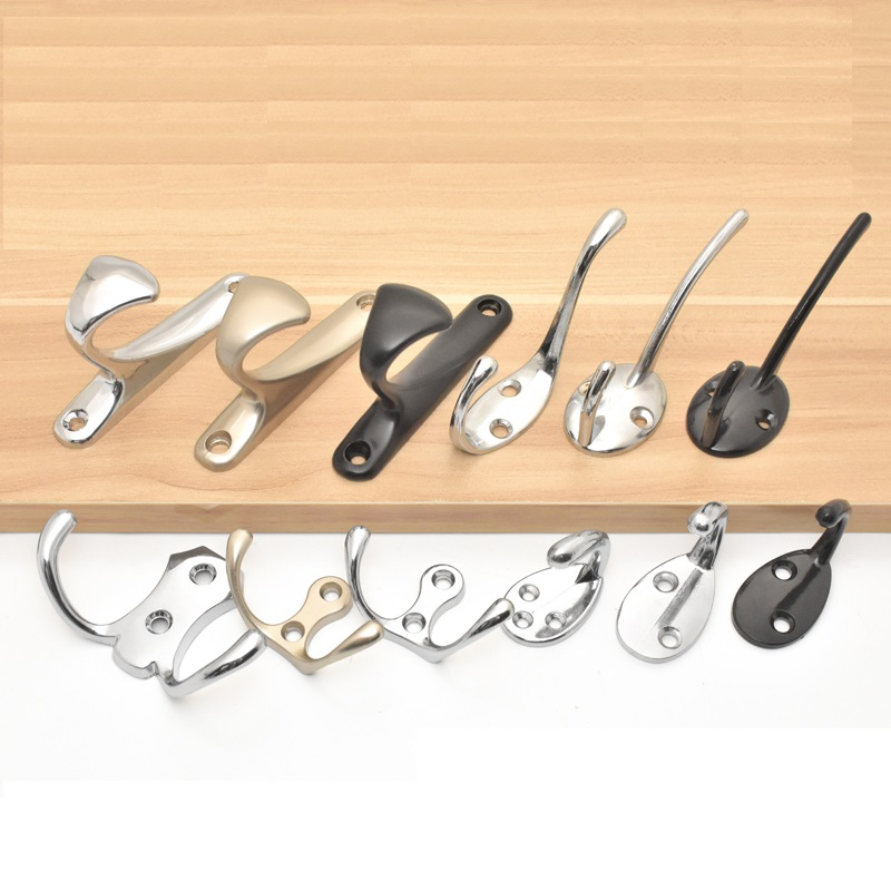 Home Improvement Robe Hooks 4pcs/lot Wall Mount Closet Jacket Hat Bag Hook Household Hook Single Hook Attractive And Durable