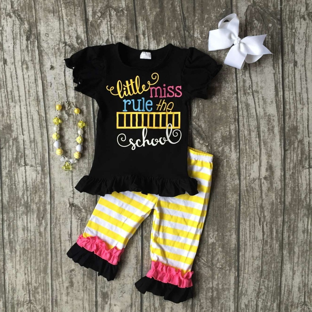 baby clothes baby girls car applique capri set pant set outfits girls little miss rule the school clothing with accessories dora the explorer little girls ballet dance pajama set