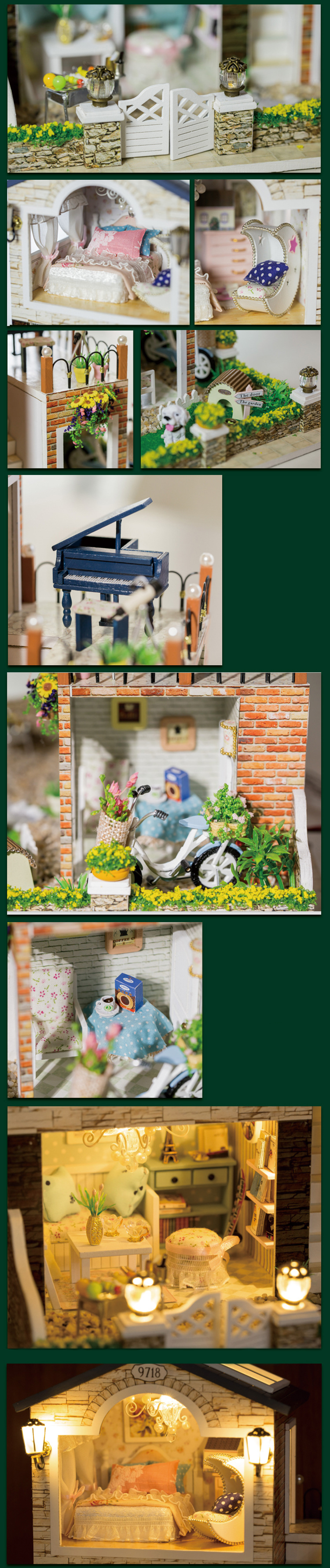 Cutebee Ireland Romantic Country DIY DollHouse