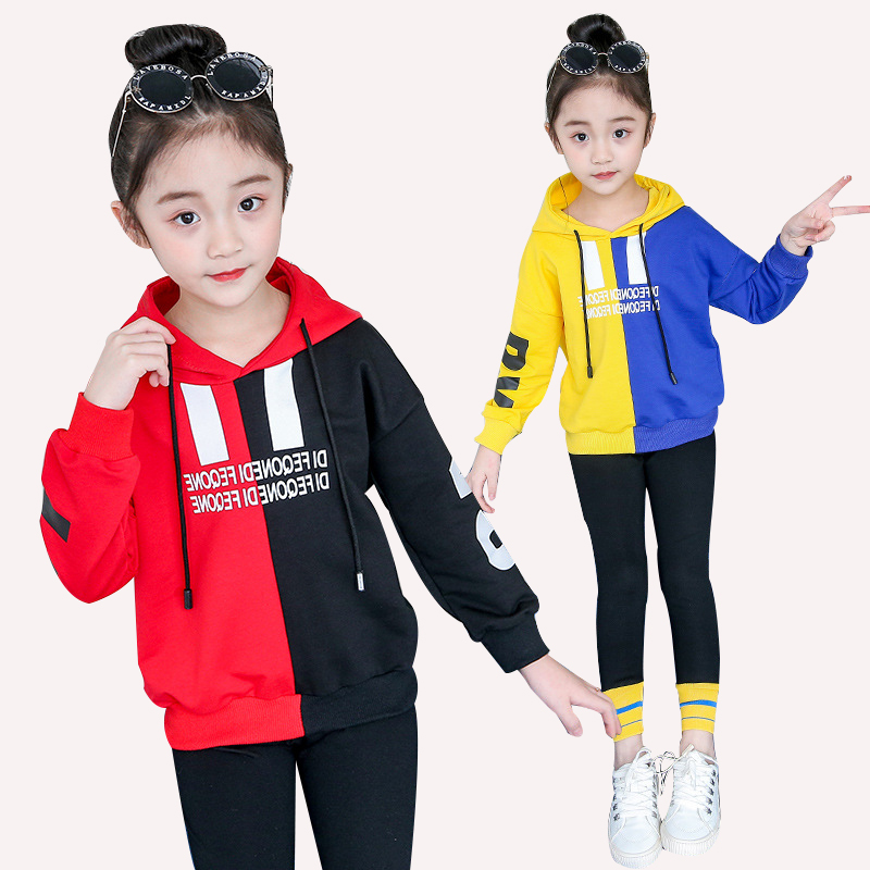 New sweater long-sleeved sweater youngsters's clothes lady 2019 spring and autumn heat garments two-piece four 6 8 10 12 14 12 months Clothes Units, Low cost Clothes Units, New...