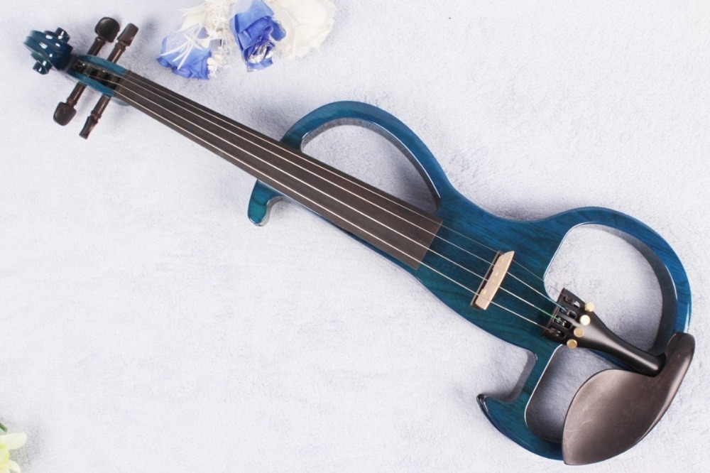 Yinfente Electric violin 4/4 Powerful Sound Solid wood Blue Violin Free Parts Case Bow Rosin Violin Accessories #EV181107Yinfente Electric violin 4/4 Powerful Sound Solid wood Blue Violin Free Parts Case Bow Rosin Violin Accessories #EV181107